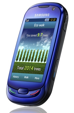 Samsung Blue Earth Solar Phone front