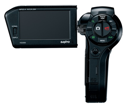 Sanyo Xacti VPC-HD2000A Full HD camcorder back