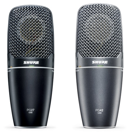 Shure PG27USB and PG42USB Side Address Condenser Microphones