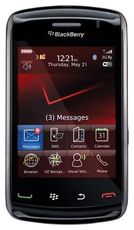 Verizon BlackBerry Storm2 touchscreen smartphone