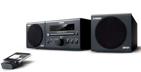 Yamaha MCR-140 iPod CD Audio System black