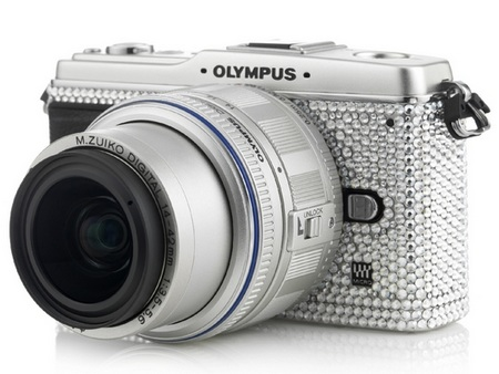 Olympus Pen E-P1 Studded with Swarovski Crystals right