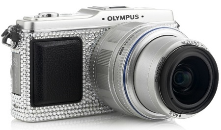 Olympus Pen E-P1 Studded with Swarovski Crystals