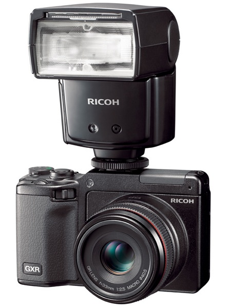 Ricoh GXR with GF-1 External Flash