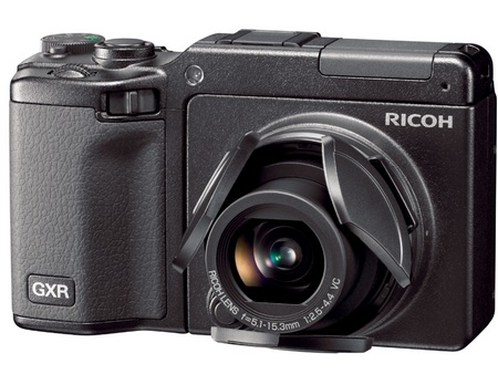 Ricoh GXR with RICOH LENS S10 LC-2 lens cover