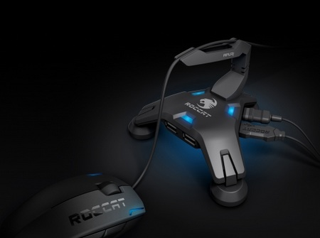 Roccat Apuri USB Hub with Mouse Bungee