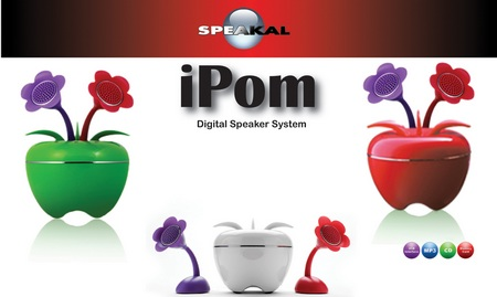 Speakal iPom Apple-shaped Speaker