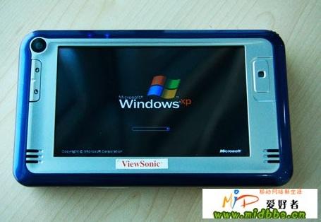 ViewSonic N01 Atom MID windows xp starting