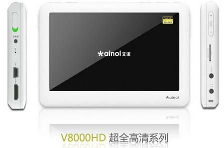 ainol updates V8000HD Series PMP 1