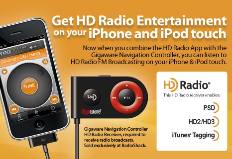 iBiquity Gigaware Navigation Control HD Radio Receiver for iPhone and iPod touch