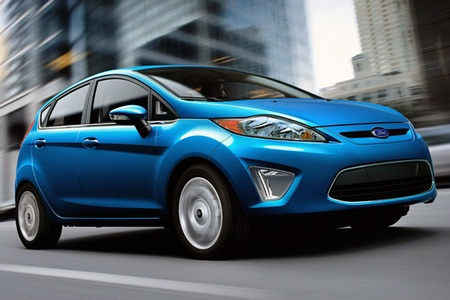 2011 Ford Fiesta with 40mpg fuel economy blue
