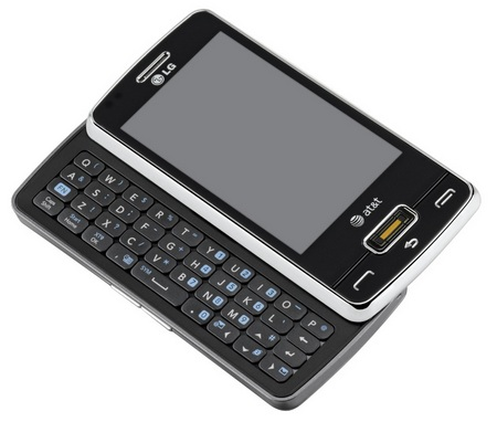 AT&T LG eXpo GW820 Smartphone with detachable projector keyboard
