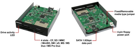 Addonics Internal eSATA-USB DigiDrive Card Readers with eSATA Port