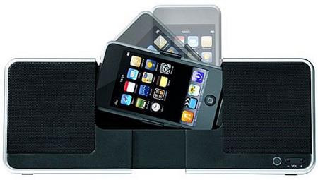 Brookstone iDesign Flip Speaker Dock for iPhone iPod