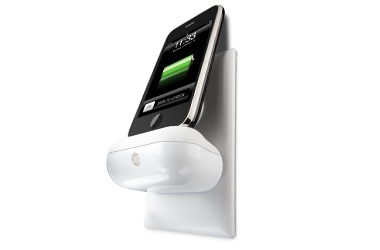 DLO WallDock turns any outlet into a iPhone iPod charging dock in use
