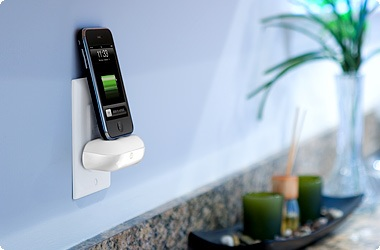 DLO WallDock turns any outlet into a iPhone iPod charging dock