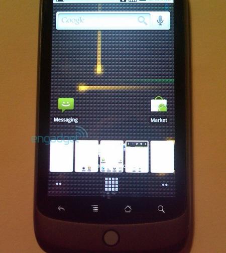 Google Nexus One Phone grid button