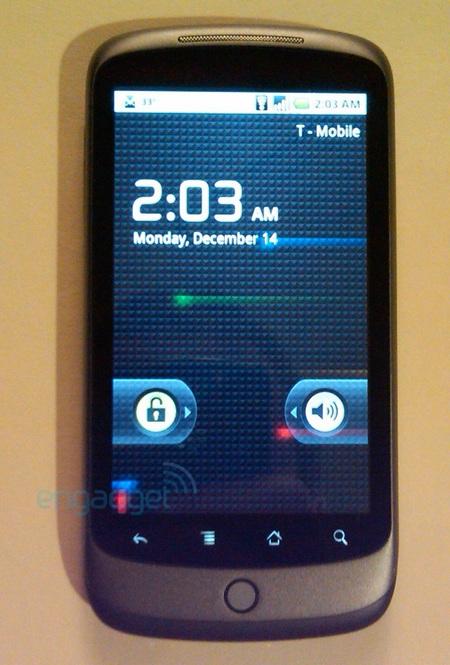 Google Nexus One Phone home screen