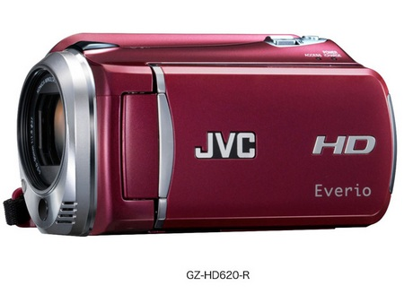 JVC Everio GZ-HD620 1080p Camcorder Red