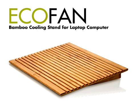 Macally EcoFan Bamboo Notebook Cooling Stand