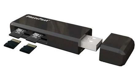 PhotoFast CR-5500 JBOD USB MicroSD Reader Flash Drive