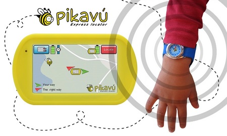 Pikavu Express Locator tracks the location of your kid