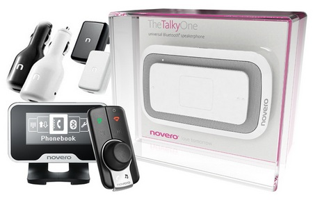 novero Bluetooth speakerphone, hands-free car kits and car chargers