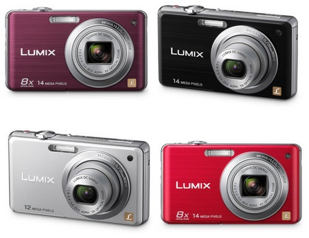 Panasonic Lumix DMC-FH20 camera colors