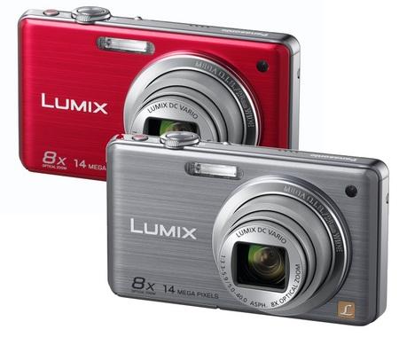 Panasonic Lumix DMC-FS33 Digital Camera Red Silver