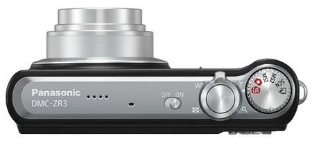 Panasonic Lumix DMC-ZR3 8x Zoom Camera top