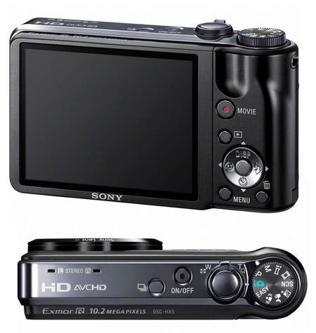 Sony Cyber-shot DSC-HX5V 1080i AVCHD Digital Camera back