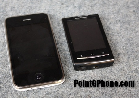 Sony Ericsson Robyn XPERIA X10 Mini vs iPhone
