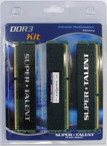 Super Talent 8GB Dual Channel and 12GB Triple Channel DDR3 Kits