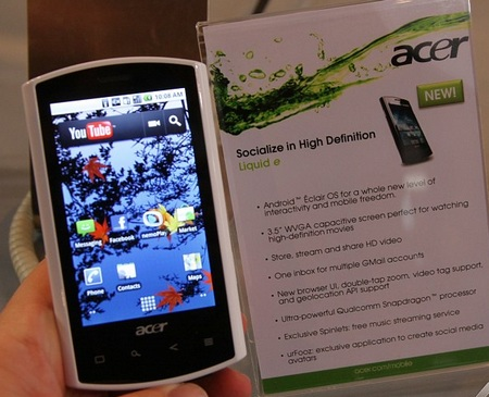 Acer Liquid e Android 2.1 Phone