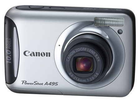 Canon PowerShot A495 entry-level digicam silver