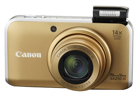 Canon PowerShot SX210 IS Digital Camera with 14x Zoom gold