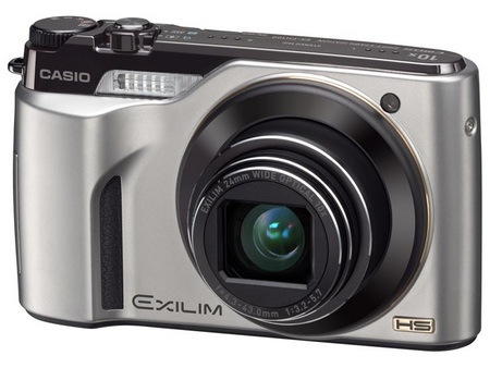 Casio HIGH SPEED EXILIM EX-FH100 does 40fps shooting silver