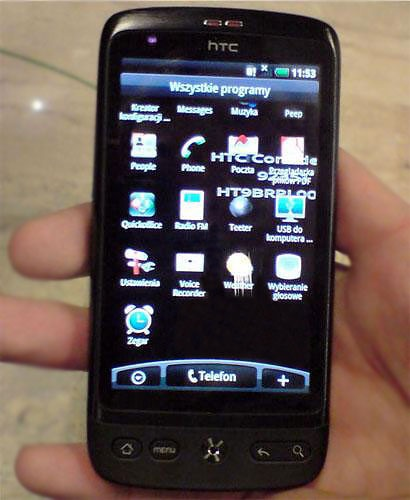 HTC Bravo Android Phone Spotted app icons