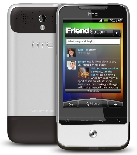 HTC Legend Android 2.1 Phone with HTC Sense front back