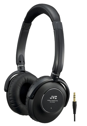 JVC HA-NC260 Noise-Canceling Headphones with fold-flat design
