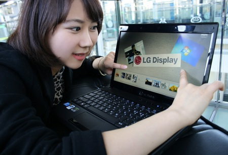 LG In-Cell Multi-Touch LCD Panel for Notebook gets Windows 7 Touch Logo