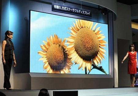 Mitsubishi 149-inch OLED Display showed at ISE 2010