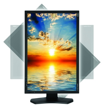 NEC MultiSync PA241W LCD Display for Professional Graphics vertical