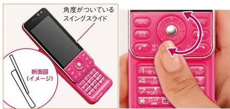 NTT docomo Panasonic P-02B Slider Phone slide and wheel