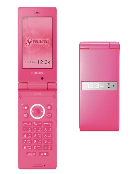 NTT docomo STYLE series SH-05B Seventeen Edition yancha pink