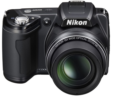 Nikon CoolPix L110 15x zoom camera front