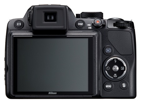 Nikon CoolPix P100 with 26x optical zoom back