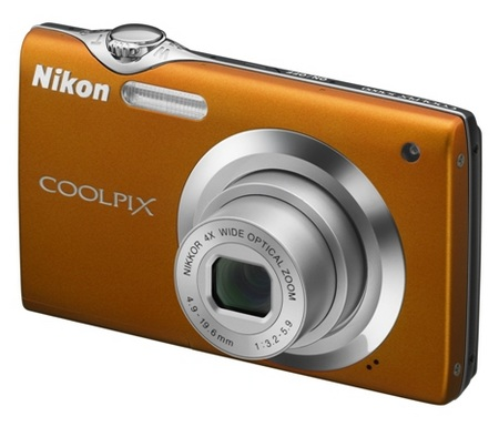 Nikon CoolPix S3000 digital camera orange