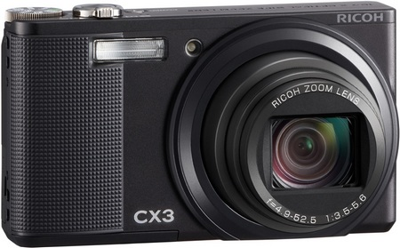 Ricoh CX3 Camera gets back-illuminated CMOS sensor and 10x zoom black