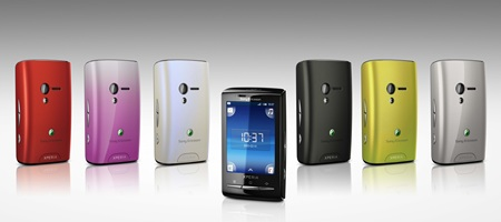 Sony Ericsson Xperia X10 mini android phone colors